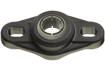 Flange bearings with 2 mounting holes, EFOM, igubal®, spherical ball iglidur® J4V