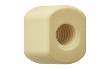 drylin® trapezoidal lead screw nut with spanner flats, WSRM