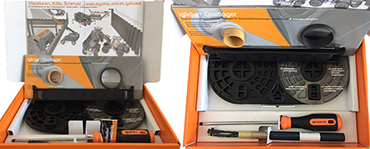Sample box for construction machinery