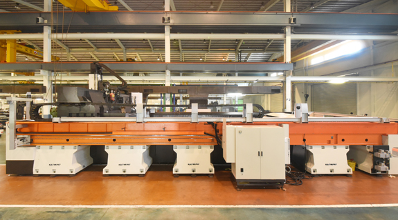 Robotic machining centres
